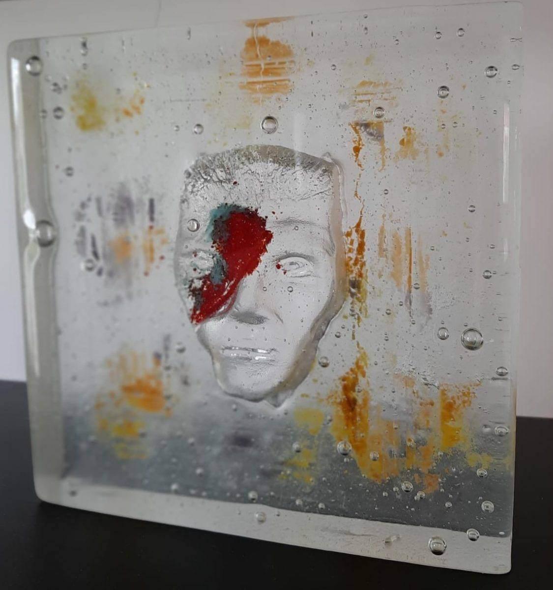 """BOWIE"" - sculpture en verre"