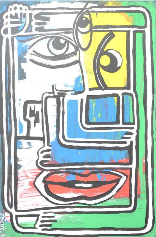 3RD EYE - 115 x 75 x 1.5 cm - acrylic - clear varnish - signed - 700 €