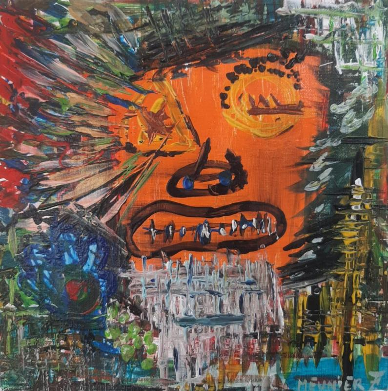 BLIND - THEKISS - 29 x 29 x 3.5 cm - acrylic - clear varnish - signed - 300 €