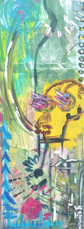 COME BACK - THEKISS - 120 x 40 x 1.5 cm - acrylic - clear varnish - signed - 400 €