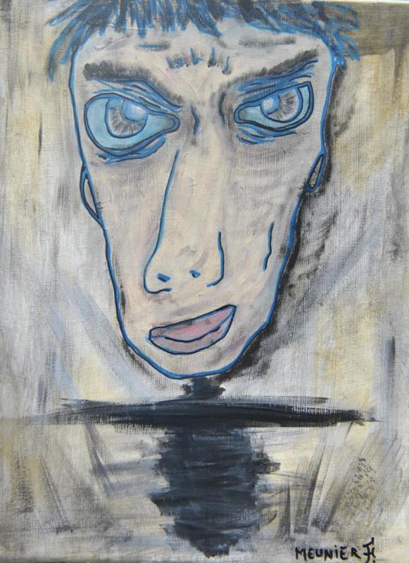 EDMOND - 30 x 40 x 1.5 cm - acrylic - clear varnish - signed - 250 €