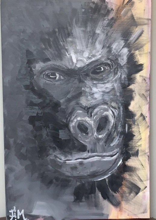 KONG1m15 x 0.75AcrylicClear varnishSigned700€