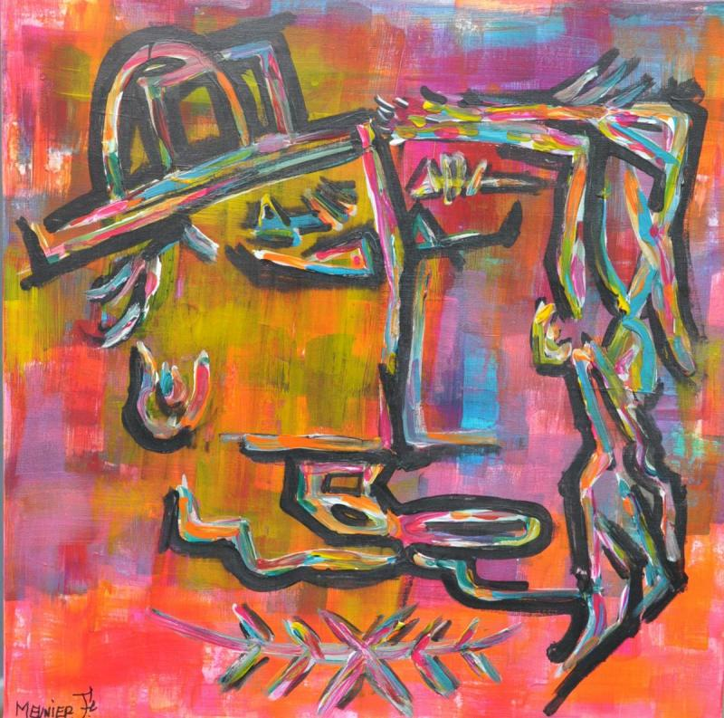 THEKISS - 50 x 50 x 3.5 cm - acrylic - clear varnish - signed - 450 €