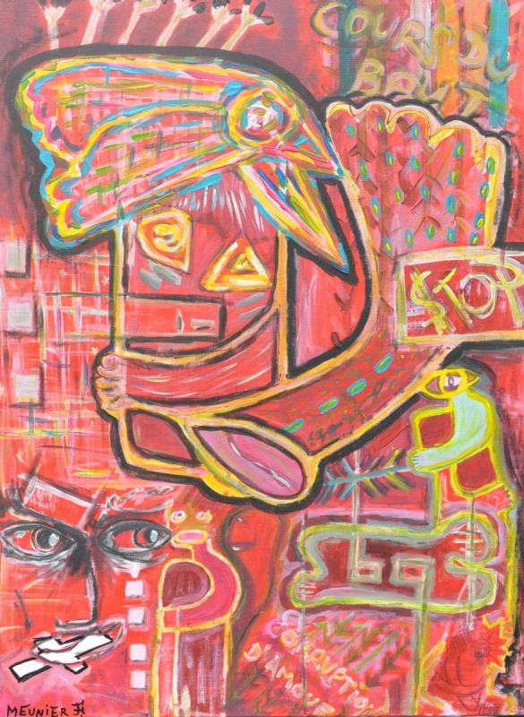 VISION - 115 x 75 x 1.5 cm - acrylic - clear varnish - signed - 700 €