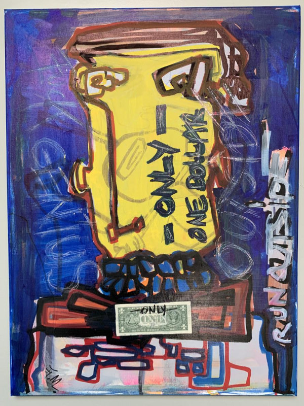 ONEDOLLARONLY1m15 x 0.75AcrylicClear varnishSigned1000€
