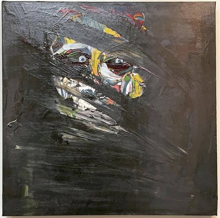 PAIN   50X50X4 CM  Acrylic  Clear varnish  Signed  600€