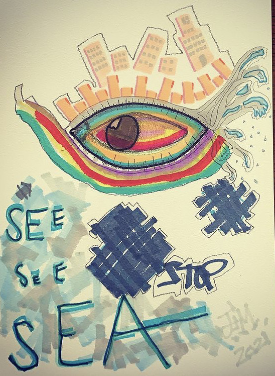 SEESEESEA  Paper   A4   270grs  Markers  Signed  100€
